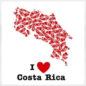 Design ~ I Love Costa Rica V-Neck