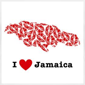 Design ~ I Love Jamaica V-Neck