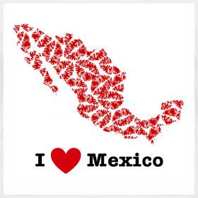 Design ~ I Love Mexico V-Neck