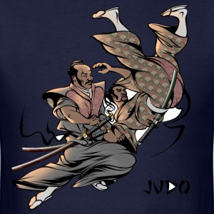Judo Throw Design Mens T- Shirt Samurai Uki Otoshi - Men's T-Shirt