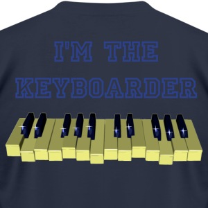Piano keyboard swinging with 10 blacks - PIXEL T-Shirts - Men's T-Shirt by American Apparel