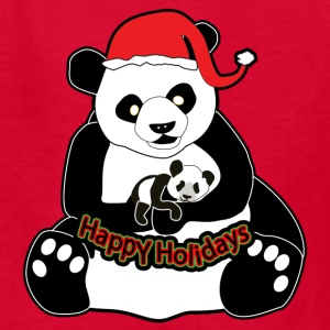 Pandas Happy Holidays - Kids' T-Shirt