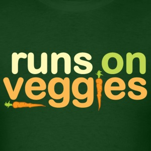 Runs On Veggies T-Shirts - Men's T-Shirt