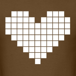 Pixel Heart - White - Men's T-Shirt