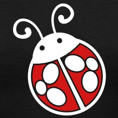 lady bug black and white cute! Women's T-Shirts