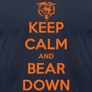 Keep Calm and Bear Down T-Shirts - Men's T-Shirt by American Apparel