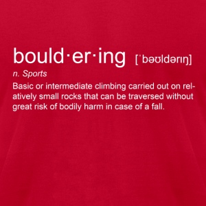 bould-er-ing - Men's T-Shirt by American Apparel