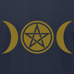 Wicca triple moon - Goddess symbol - Pentagram T-Shirts - Men's T-Shirt by American Apparel