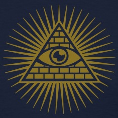 Eye in the Pyramid - symbol of Omniscience Women's T-Shirts