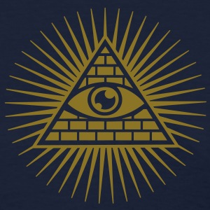 Eye in the Pyramid - symbol of Omniscience Women's T-Shirts - Women's T-Shirt