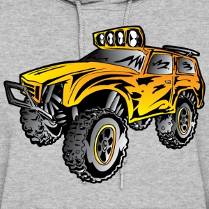 4x4 rock crawler rc race truck, orange - Women's Hoodie