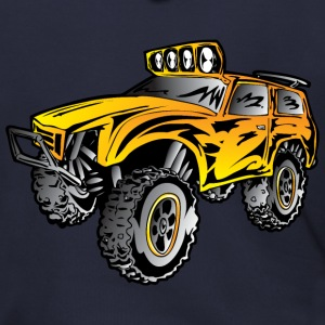 4x4 rock crawler rc race truck, orange - Men's Zip Hoodie