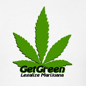 Get Green - Lagalize Marijuana T-Shirts - Men's T-Shirt