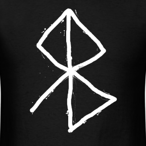 Peace - Viking Symbol  A Rune based symbol meaning - Men's T-Shirt