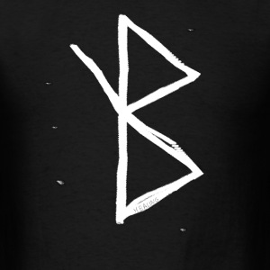 Healing - Viking Symbol  A Rune based Symbol meani - Men's T-Shirt