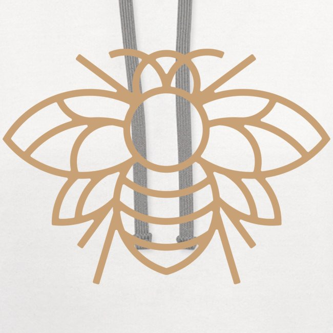 White on Gold Classic Bee Hoodie
