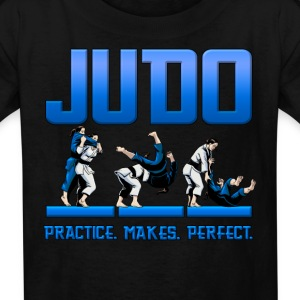 Judo Throw Design Kids T- Shirt Practice Makes Per - Kids' T-Shirt