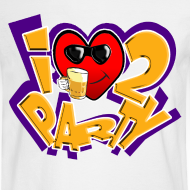 Design ~ I Love To Party. TM  Mens Long sleeve shirt