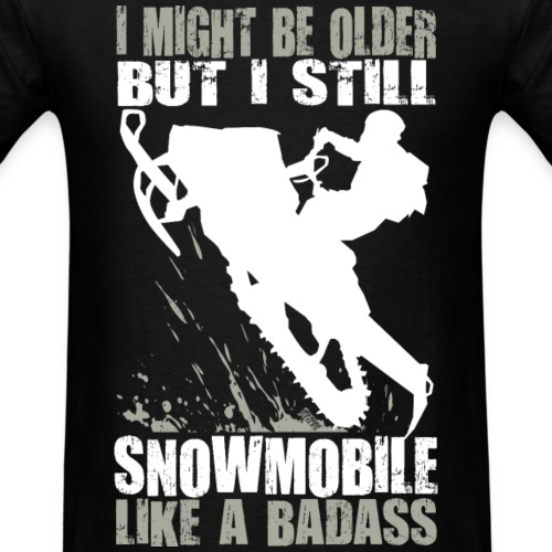 Snowmobiling Old Guy