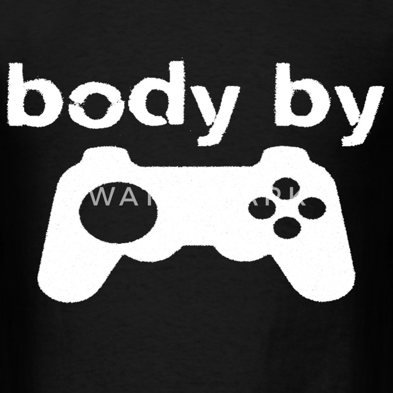 Body By Video Games - Men's T-Shirt