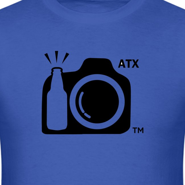 Men's Standard Weight T-Shirt ATX Initials on Logo