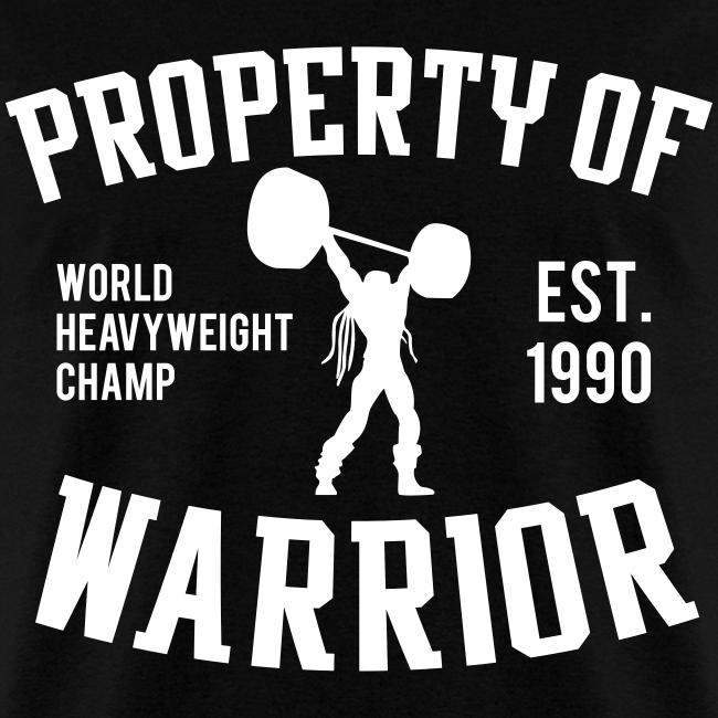 Ultimate Warrior Property of Warrior Shirt