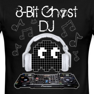 8-Bit Ghost DJ - Men's Ringer T-Shirt