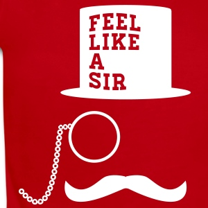Feel Like A Sir meme mustache monocle Baby & Toddl - Short Sleeve Baby Bodysuit