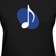 Design ~ Blue Music Emblem (Women's)