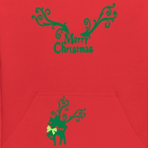 Merry Christmas Reindeer Kid's Hooded Sweatshirt - Kids' Hoodie