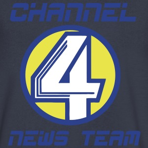 channel4news T-Shirts - Men's V-Neck T-Shirt by Canvas