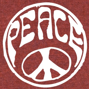 PEACE T-Shirts - Unisex Tri-Blend T-Shirt by American Apparel