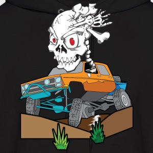 Skull Crazed 4x4 rock crawler truck - Men's Hoodie