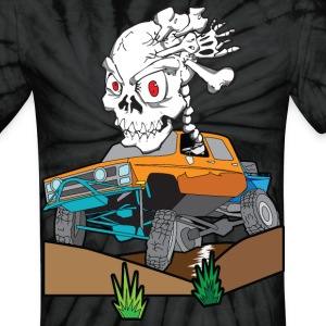 Skull Crazed 4x4 rock crawler truck - Unisex Tie Dye T-Shirt
