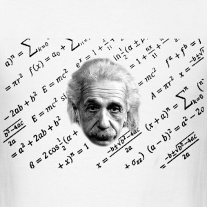 Albert Einstein T-shirt formula - Men's T-Shirt