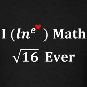 i_lne_love_math_4_ever T-Shirts - Men's T-Shirt