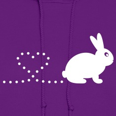 'Pooping Heart Rabbit' Ladies Hoodie