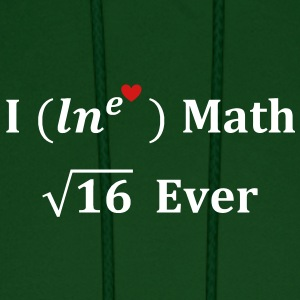 i_lne_love_math_4_ever Hoodies - Men's Hoodie