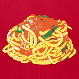 Spaghetti on AA - Men's T-Shirt by American Apparel