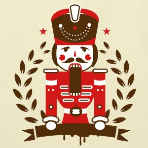 Nutcracker character as a hussar with mustaches Bags  - Eco-Friendly Cotton Tote