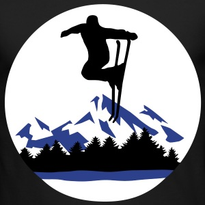 Ski and Mountains, skiing Long Sleeve Shirts - Men's Long Sleeve T-Shirt by Next Level