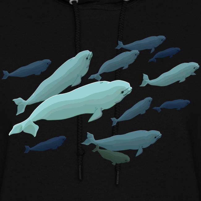 Beluga Whale Hoodie Women's Beluga Whale Sweatshirt