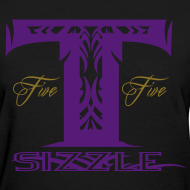 Design ~ WOMENS T SIZZLE LOGO T BLK/PURPLE