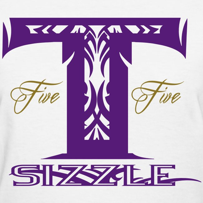WOMENS T SIZZLE LOGO T WHITE/PURPLE