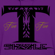 Design ~ WOMENS HOODIE T SIZZLE LOGO PURPLE/BLK