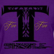 Design ~ WOMENS T SIZZLE LOGO T PURPLE/BLK
