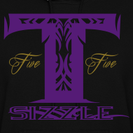 Design ~ WOMENS HOODIE T SIZZLE LOGO BLK/PURPLE