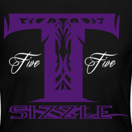 Design ~ WOMENS LONG SLEEVE T SIZZLE LOGO WHITE/PURPLE