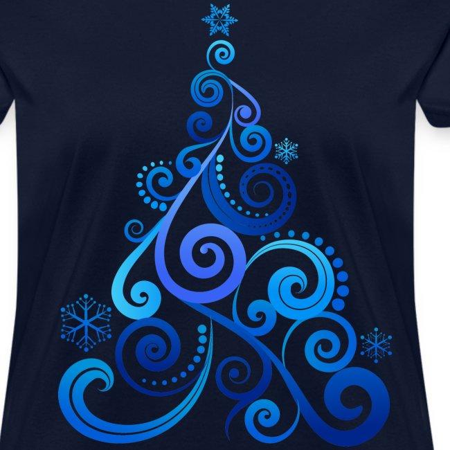 Blue Swirly Tree