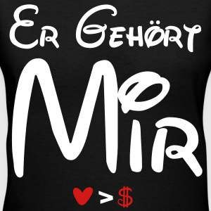 er_gehort_mir - Women's V-Neck T-Shirt